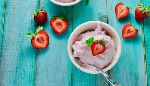 3 Ingredient 5-Min Frozen Yogurt